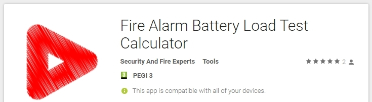 Fire alarm battery size calculator app on Google Play